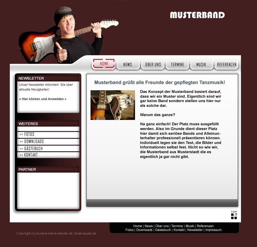 Profi Webauftritt für Musiker, Bands, Alleinunterhalter und DJs